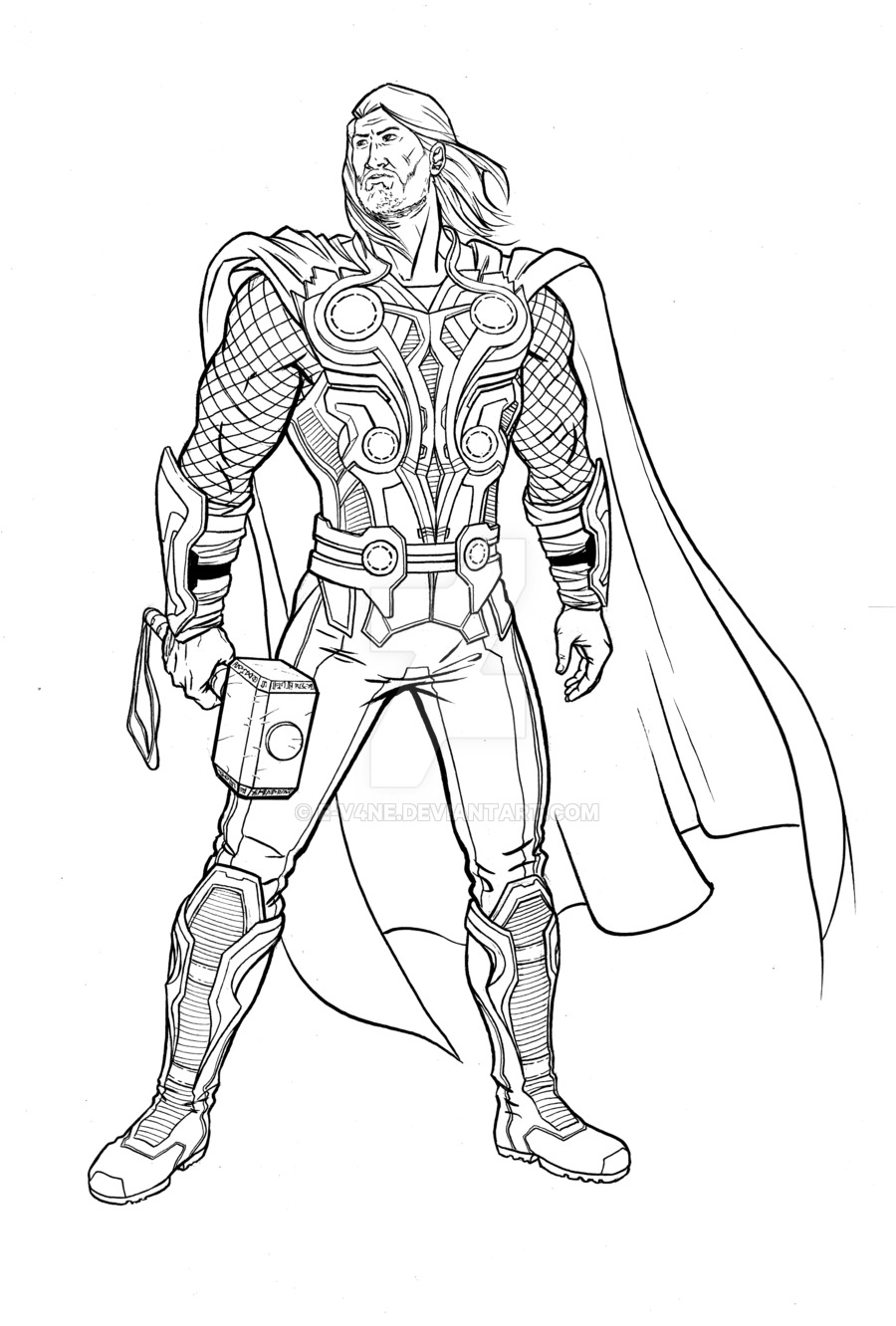 Thor Avengers Drawing at GetDrawings.com | Free for personal use ...