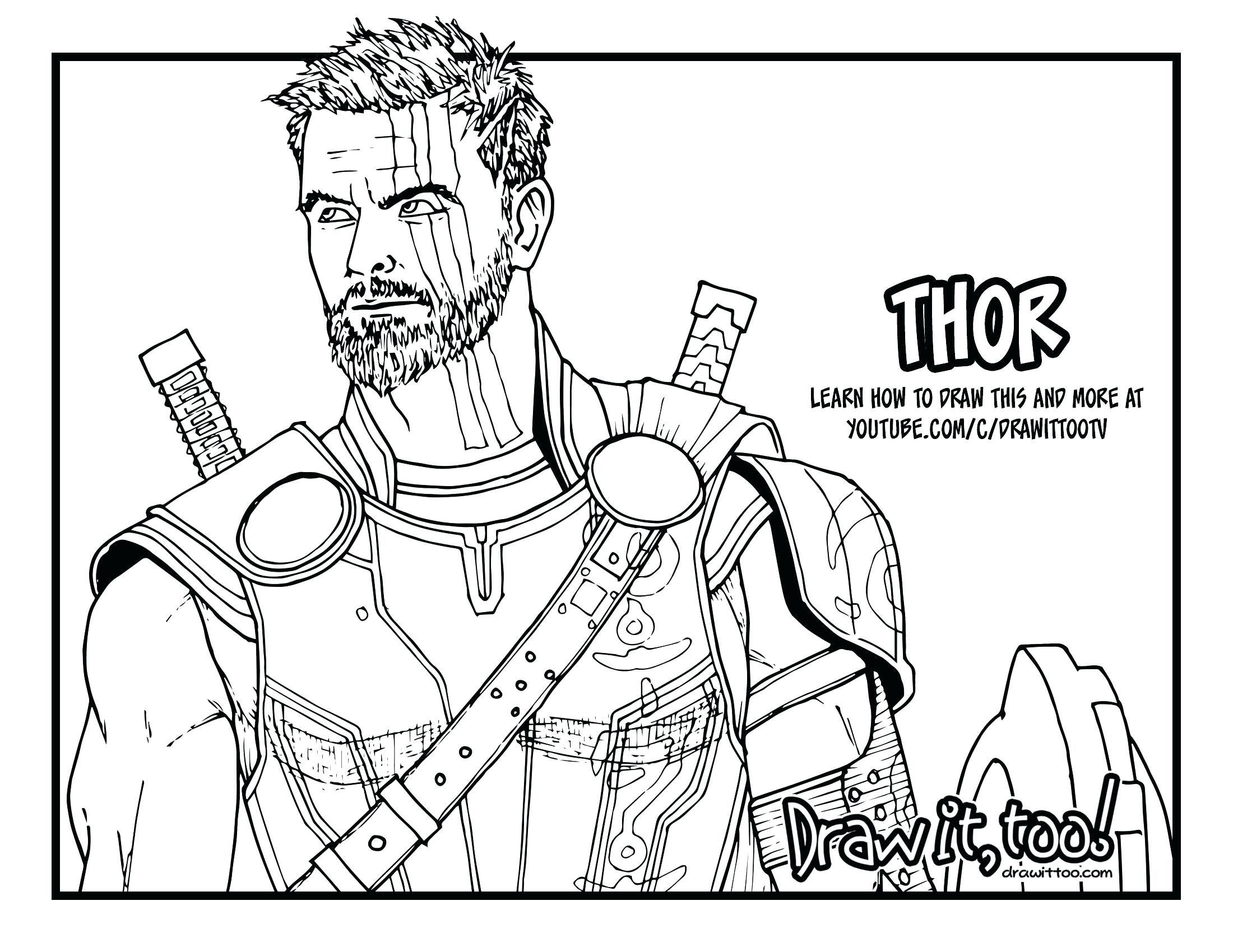 2200x1700 Coloring Thor Coloring Pages