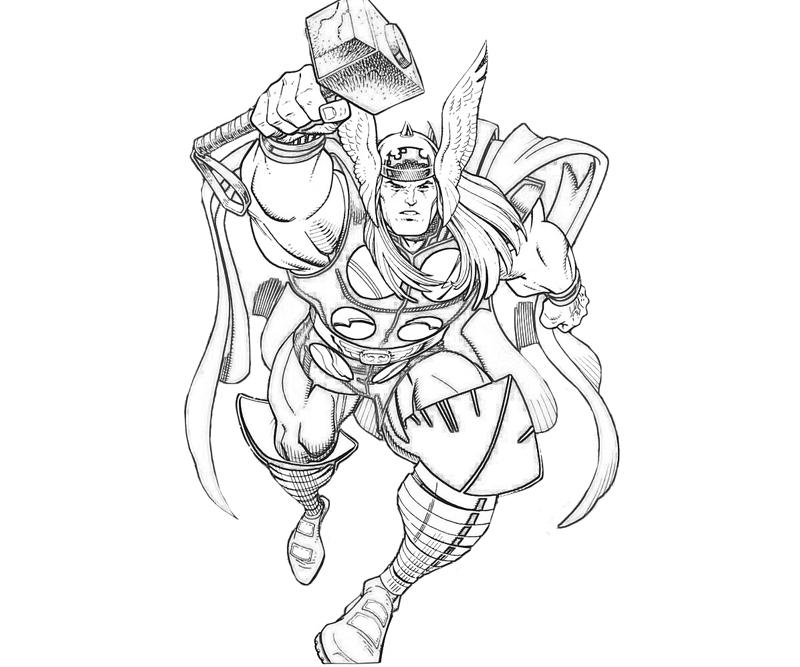 800x667 Thor Coloring Page Marvel Vs Capcom Thor Coloring Pages Marvel