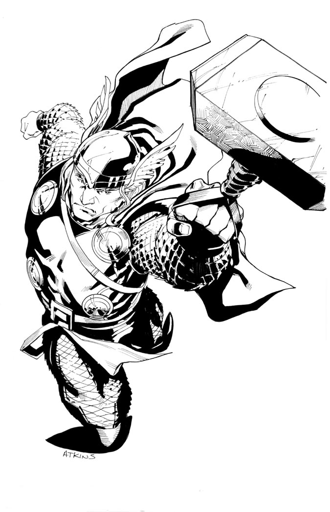 675x1047 Avengers April Thor Robert Atkins Art