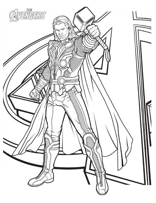 600x782 Avengers Character Thor Coloring Page