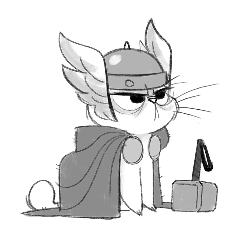 800x800 411 Thor Catwhile I'M On The Comic Con Kick Here Is A Thor Kitty