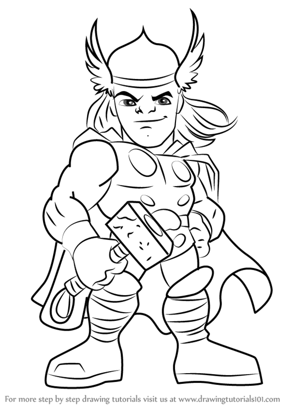 567x800 Learn How To Draw Thor From The Super Hero Squad Show (The Super