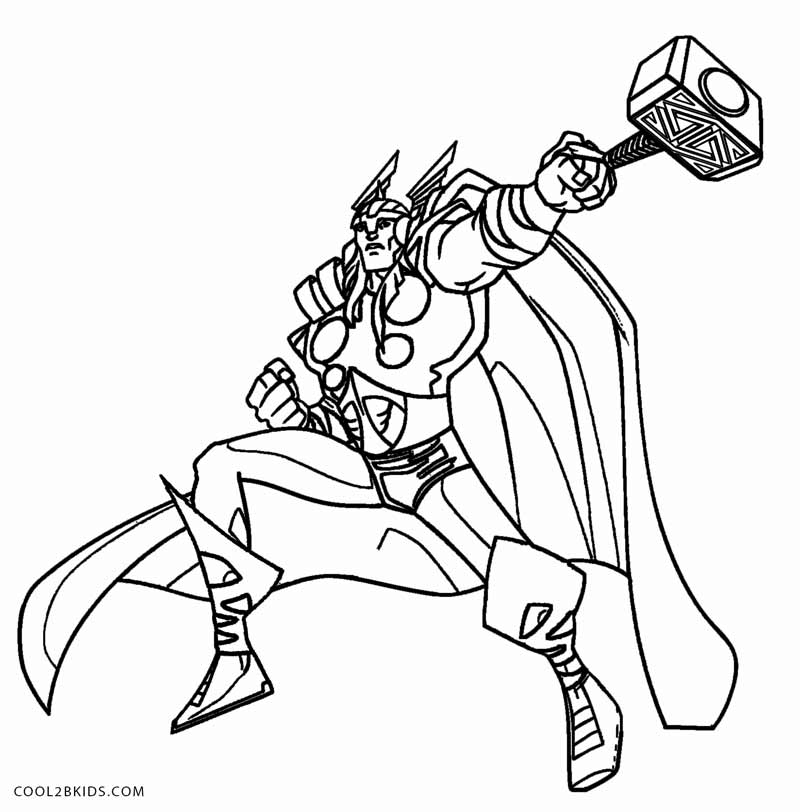 800x812 Printable Thor Coloring Pages For Kids Cool2bkids