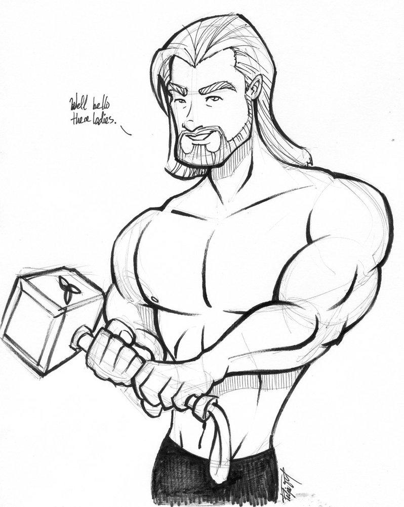 798x1002 Shirtless Thor By Gelipe