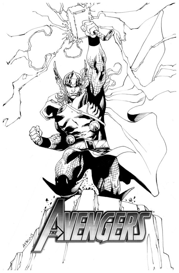 600x917 Sketch Cover Thor Sotd By Robertatkins