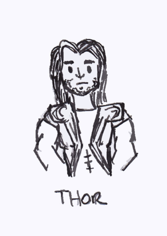 539x763 Thor Cartoon By Amirall