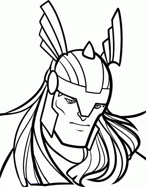 600x768 Thor Face Coloring Pages