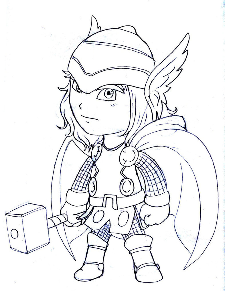 786x1017 Cartoon Thor Coloring Pages