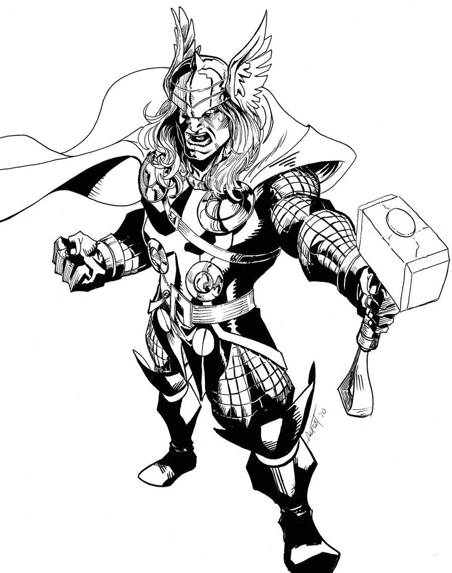 900x1140 The Mighty Thor By Alfret