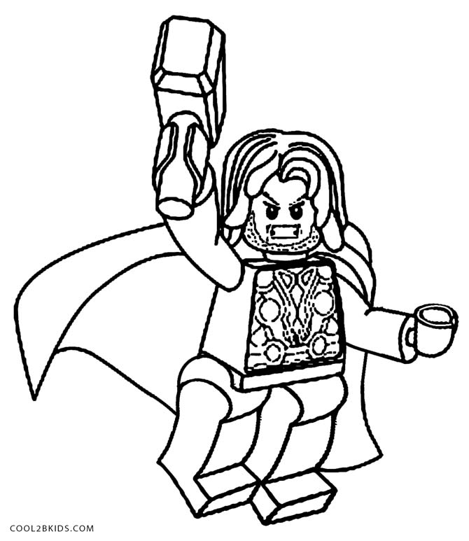 670x773 Thor Coloring Pages In Sweet Page Draw Lego