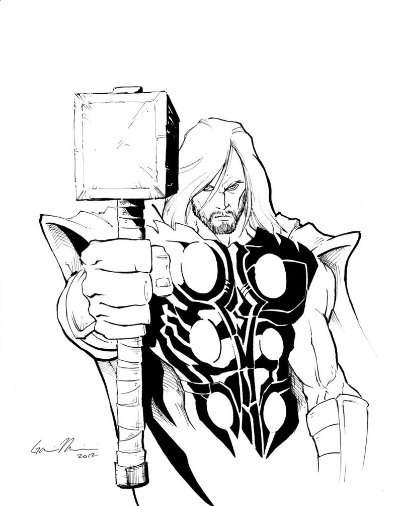795x1004 Thor By Gavinmichelli On Lineart Thor Amp Friends