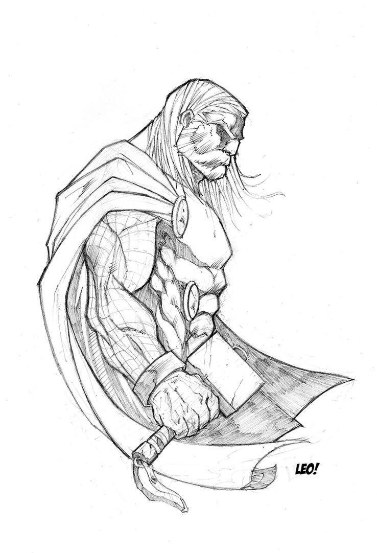 738x1082 Thor Sketch By Spideycreed