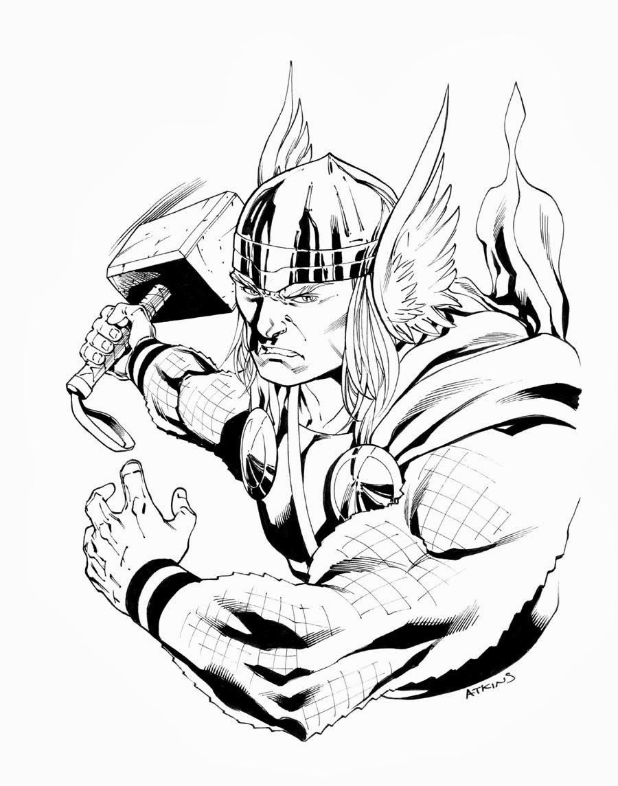 900x1145 Thor . Robert Atkins Art
