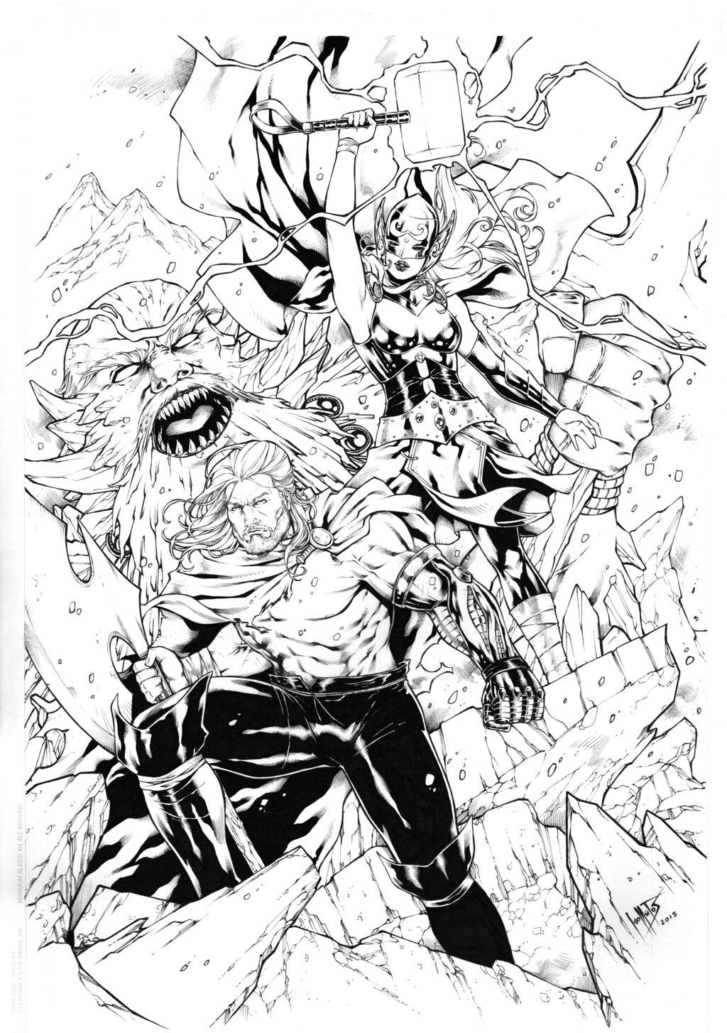 1024x1454 Unworthy Thor And Thor By Leomatos2014