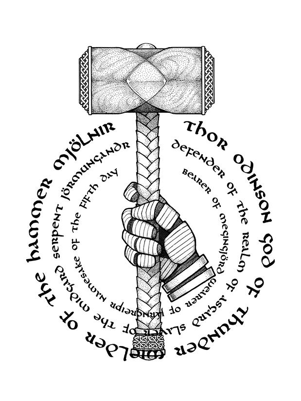 Thor Hammer Drawing at GetDrawings   Free download
