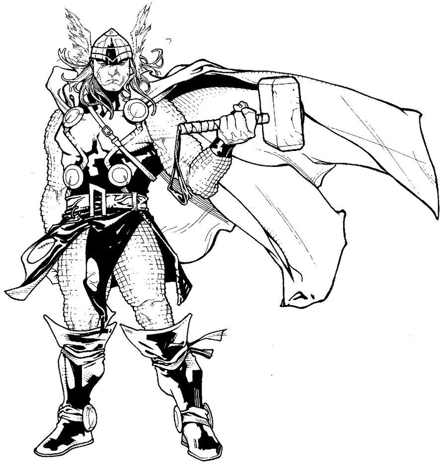900x952 Thor And Hammer By Timothygreenii