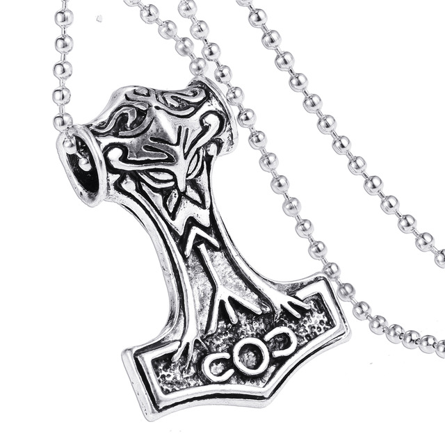 640x640 Thor Hammer Necklace The Dark World Alloy Thor's Hammer Norse