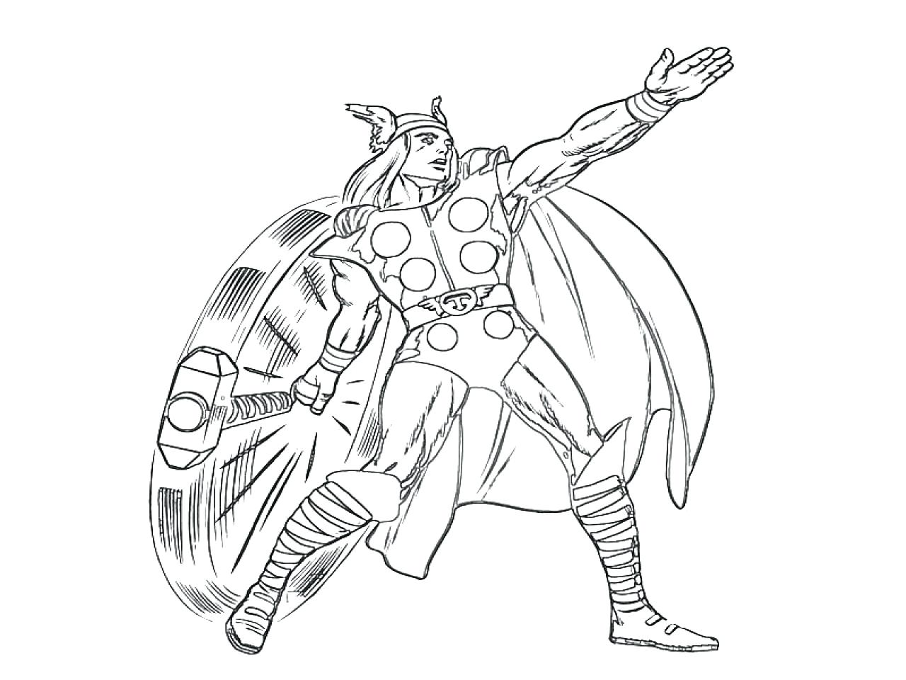 1280x960 Coloring Coloring Pages Thor