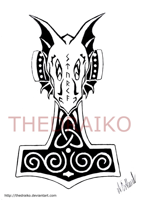 543x768 Comission Thor's Hammer By Thedraiko