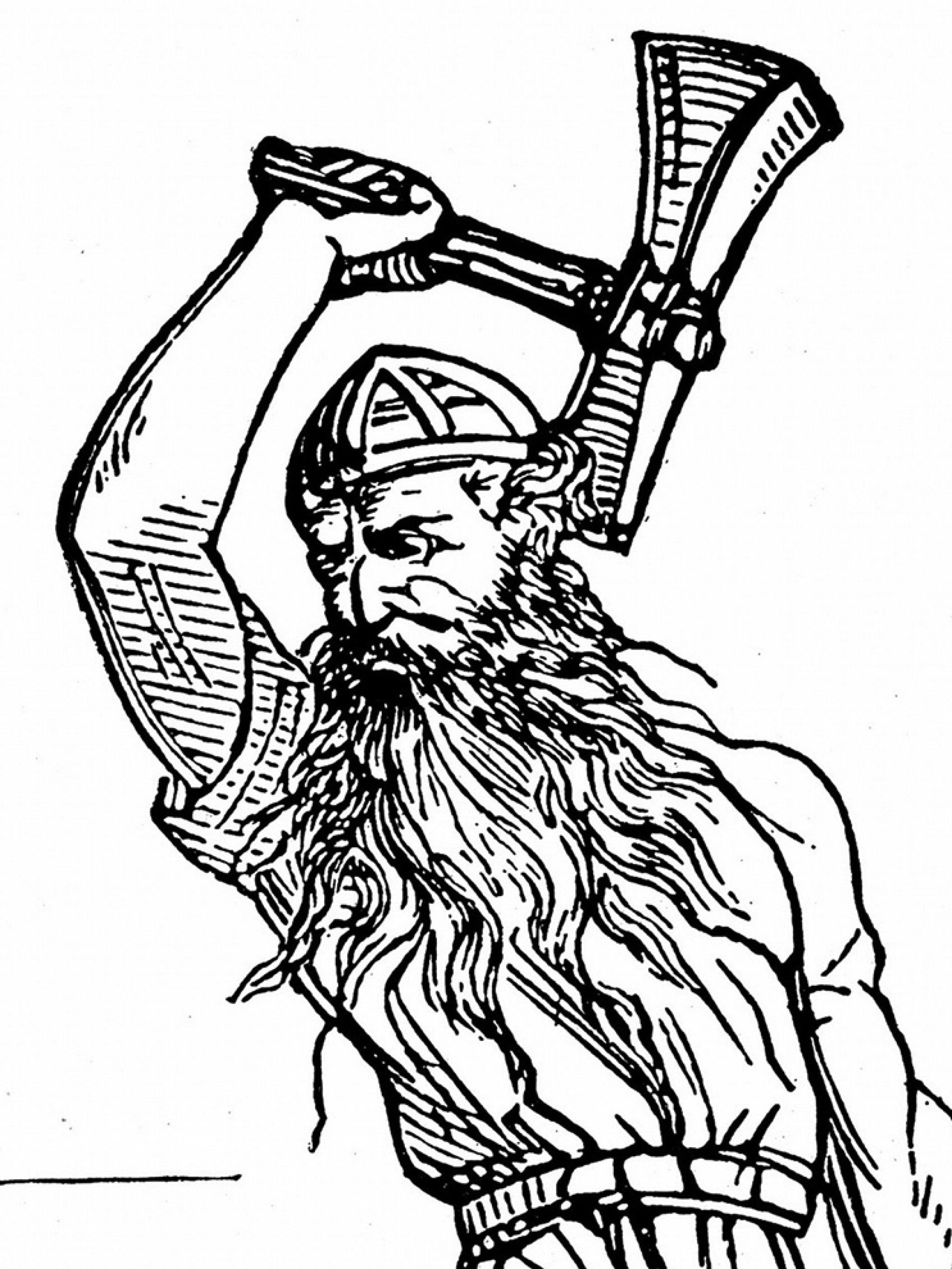 1900x2531 Drawing Of A Viking Thor's Hammer Found In Viking Graves