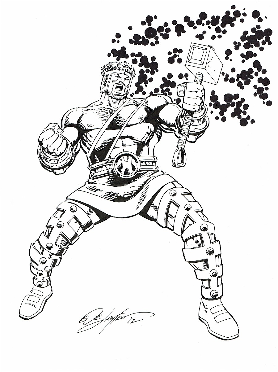 900x1201 Marvel Comics Of The 1980s My Hercules Commission By Bob Layton