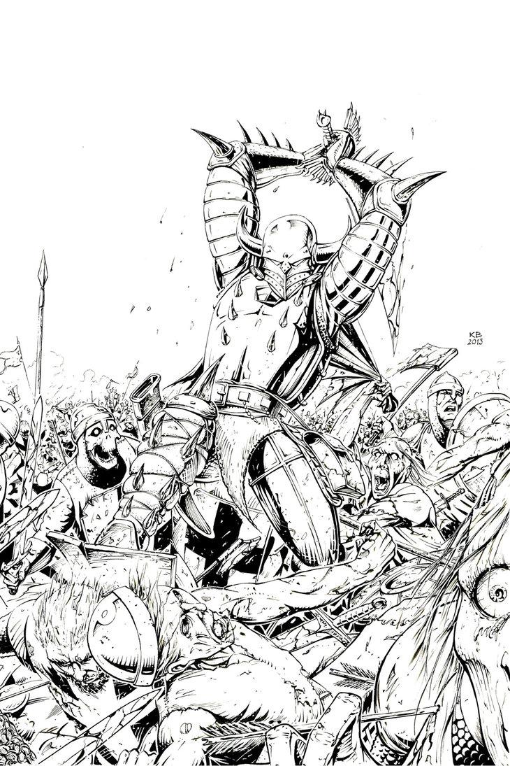 730x1095 The Knight Of Thorn Bush By K Budziejewski