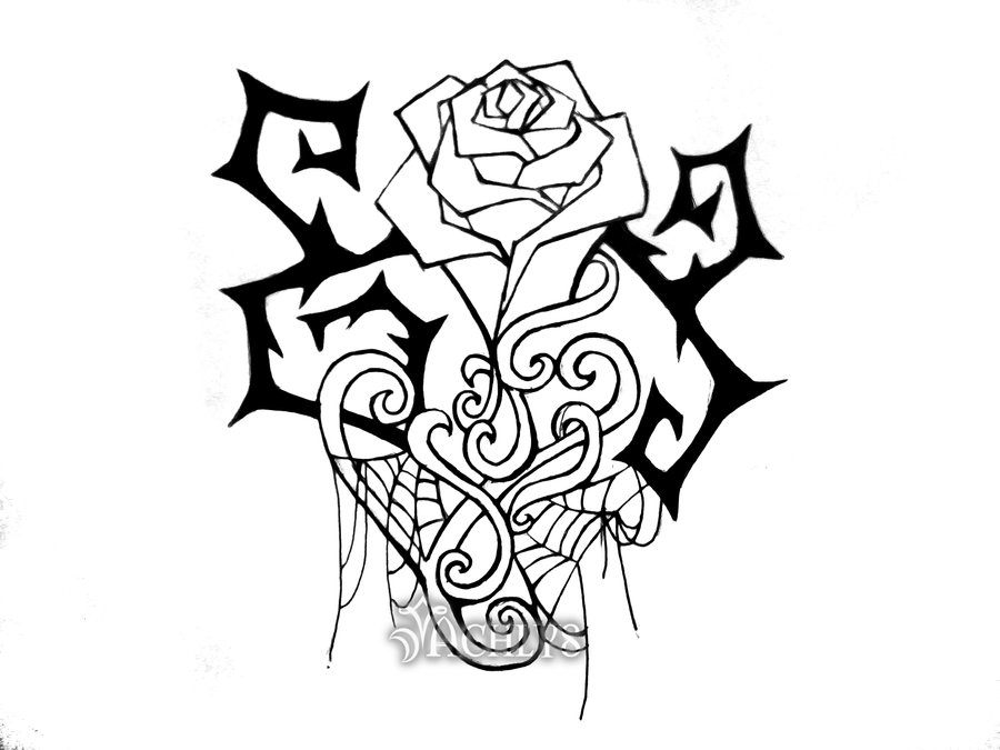 900x675 Roses With Thorns Drawings Thorns And Spiderwebs By Achlys