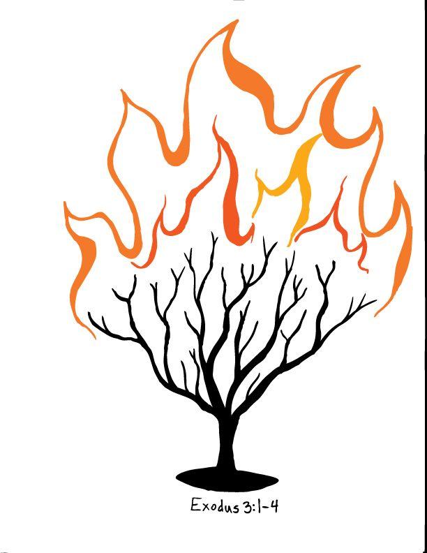612x792 Burning Bush Clipart