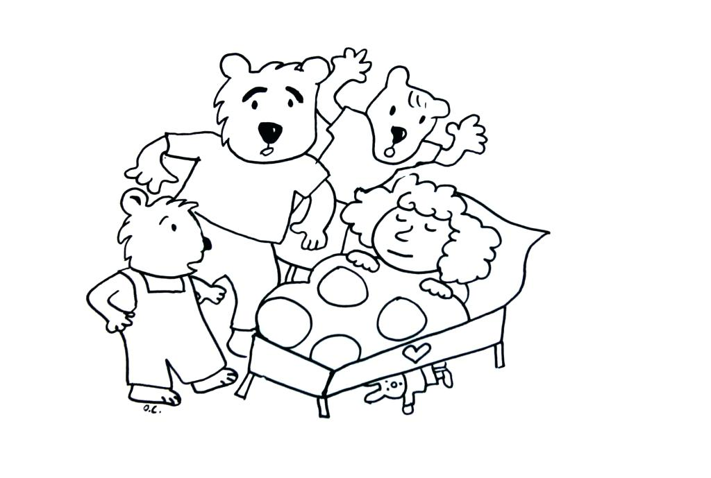 1024x689 Goldilocks Coloring Pages Online Story Goldilocks And The Three