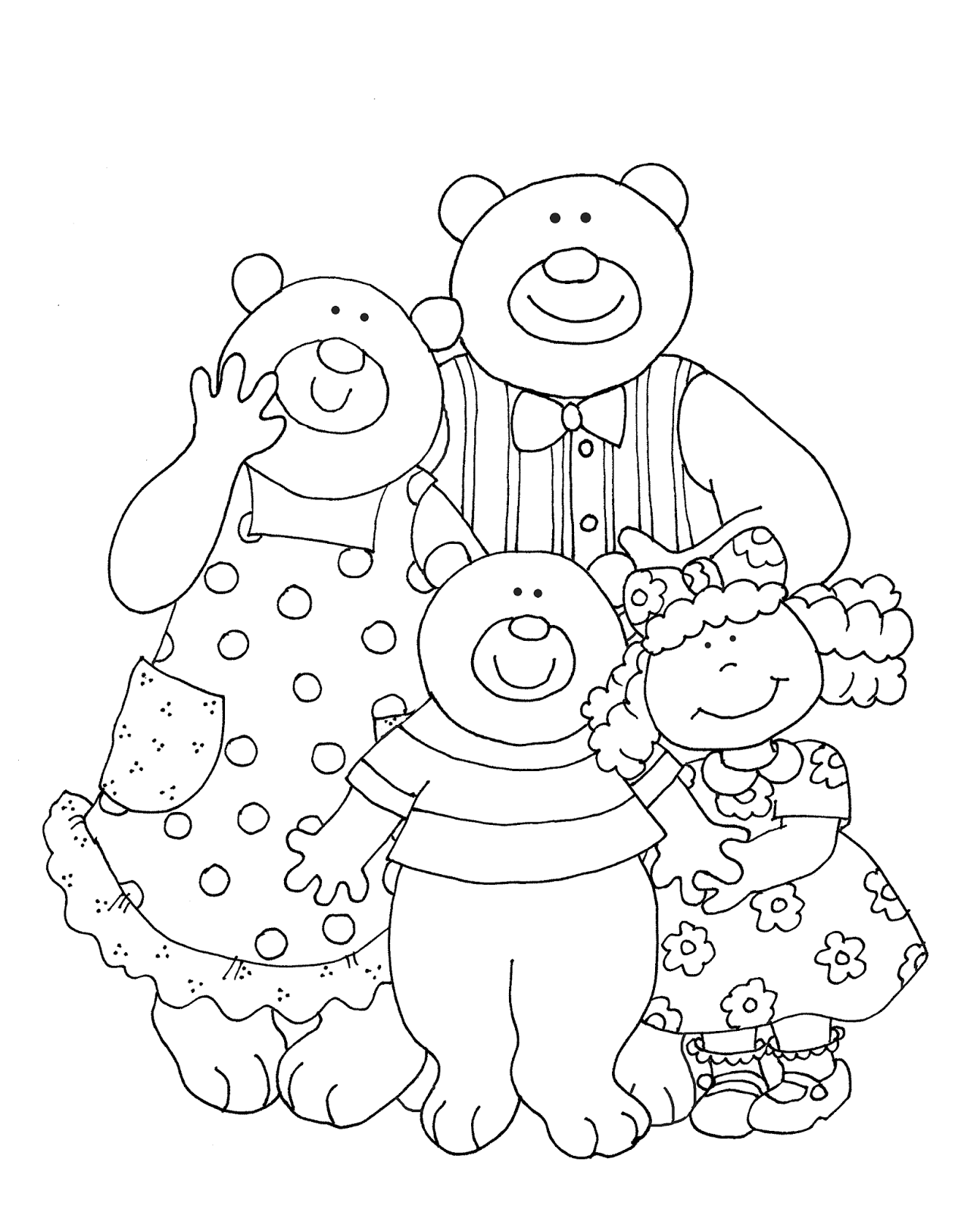 Three Bears Drawing at GetDrawings.com | Free for personal use Three ...