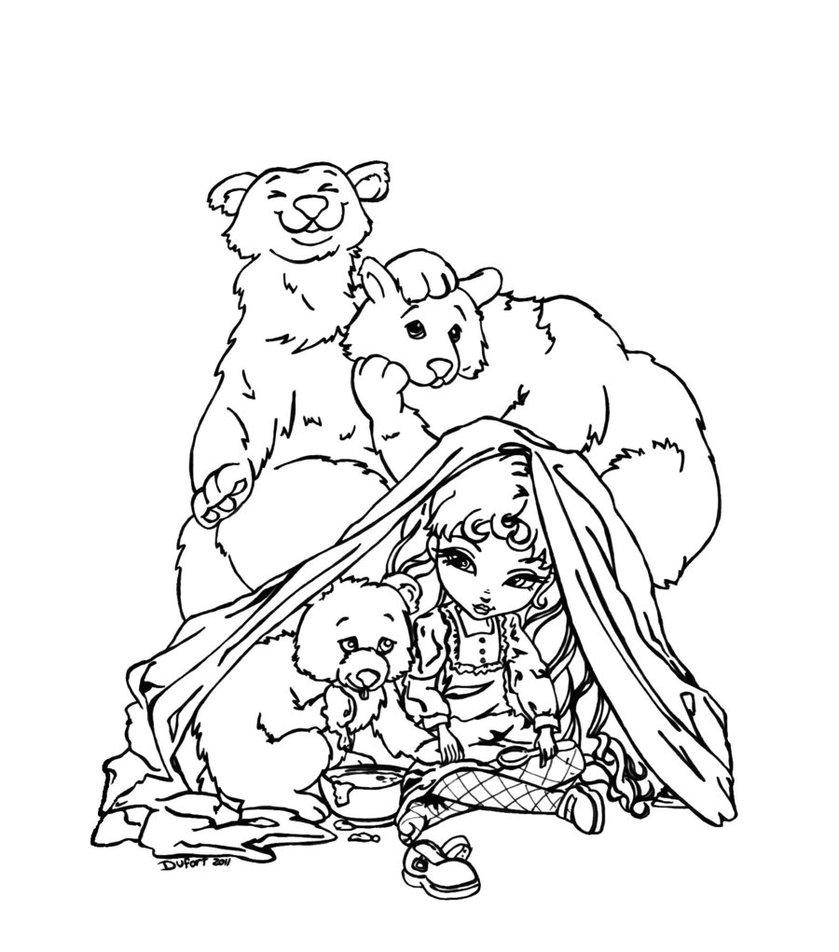839x952 Goldilocks And The Three Bears By Jadedragonne