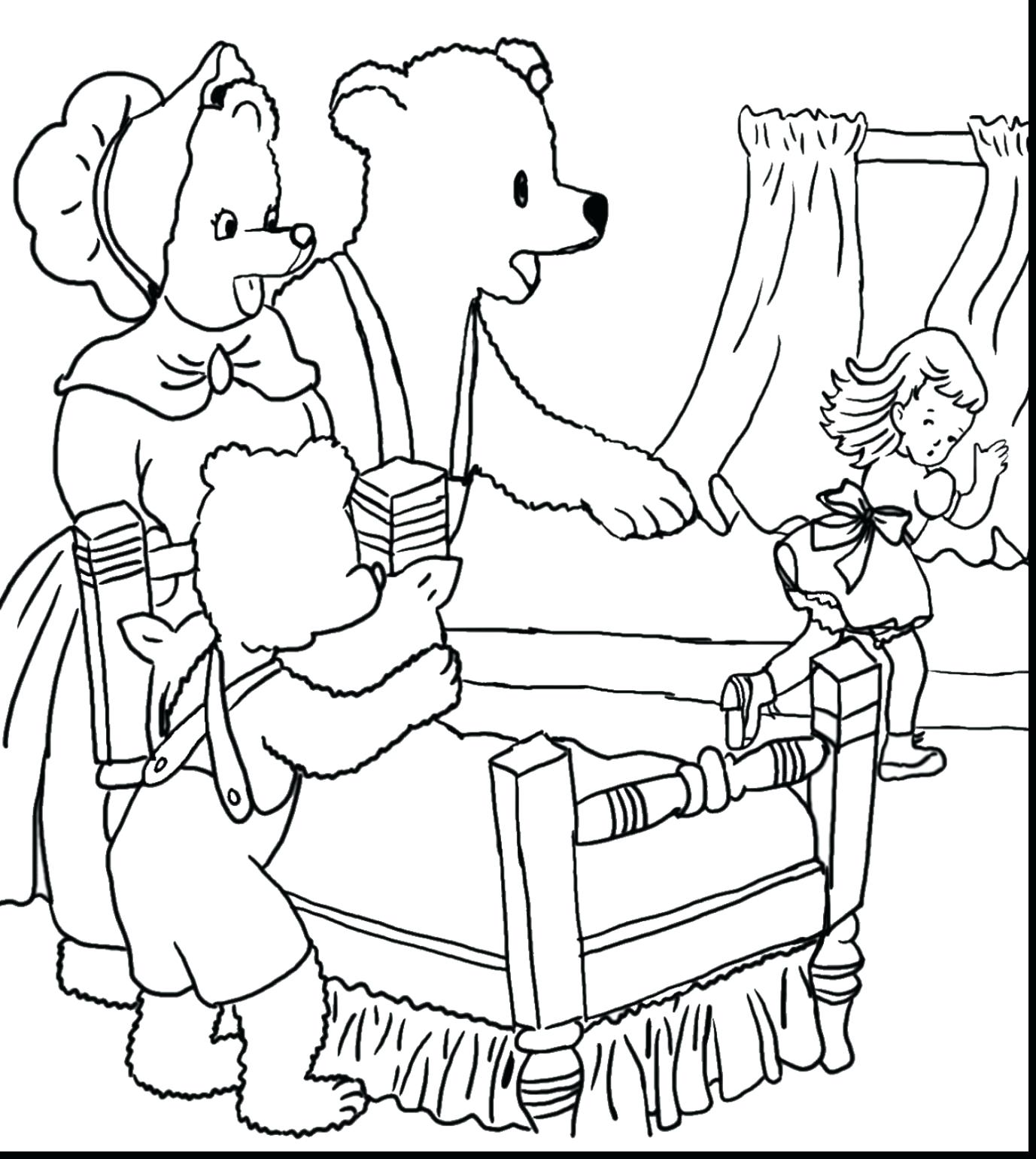 1377x1540 Coloring Goldilocks Coloring Page And The Ark Pages Children
