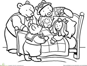301x227 Color Goldilocks And The Three Bears Worksheet
