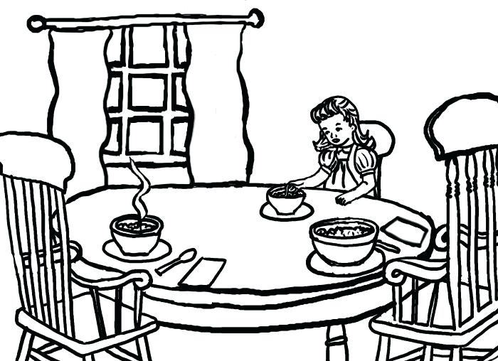 700x508 Goldilocks Coloring Page And The Three Bears Coloring Pages