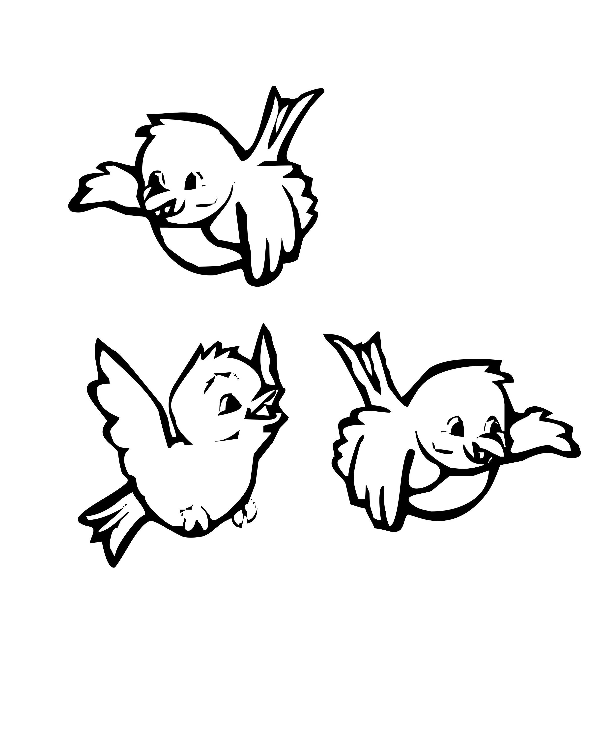 Three Birds Drawing at GetDrawings.com | Free for personal use Three ...