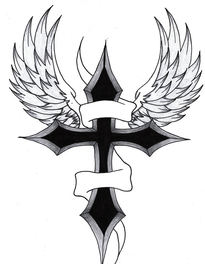 787x1015 Cross With Wings Tattoos Tattoo