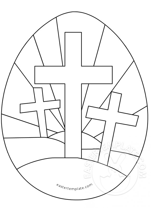 581x803 Easter Egg With Three Crosses Coloring Page Easter Template