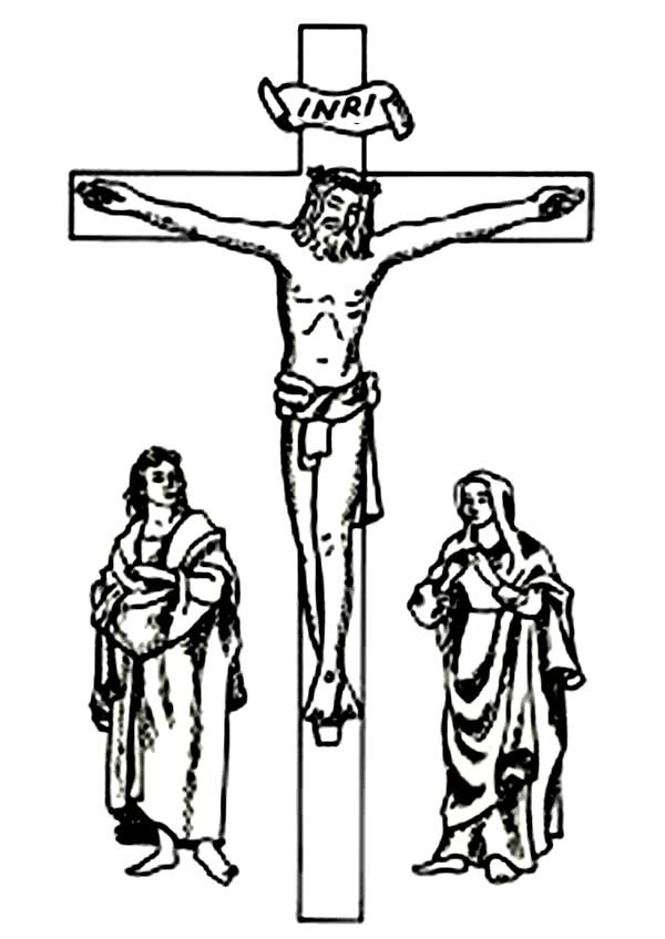 600x848 Good Friday Coloring Pages Three Crosses