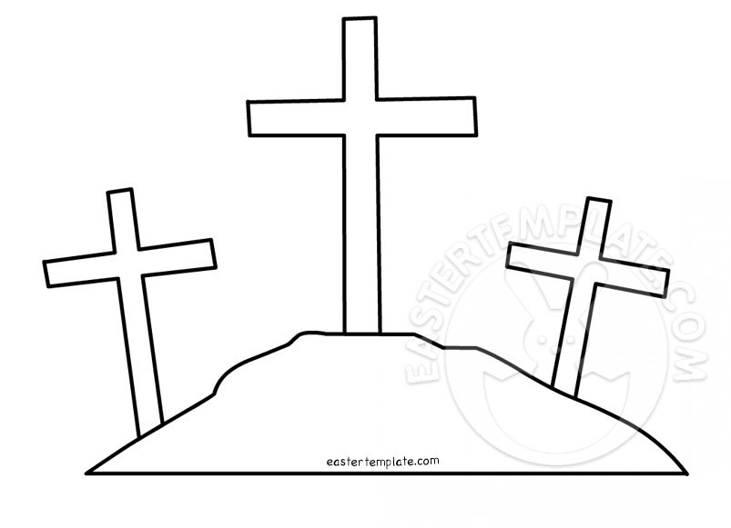 803x581 Three Crosses Template Easter Template