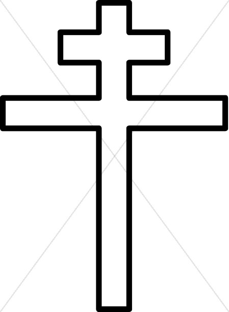 449x612 Black And White Double Cross Cross Clipart