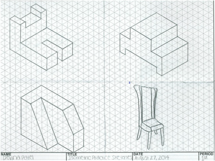 425x319 Isometric And Oblique Drawings