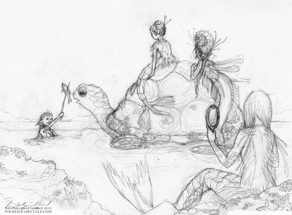 1000x735 Kiri Personal Work Mermaid Sketches