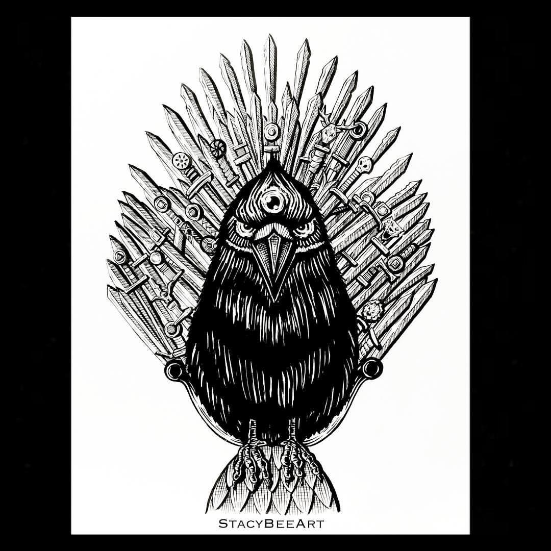 1080x1080 Stacy Bee Art I Think The Three Eyed Raven Deserves The Iron