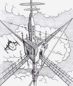 236x277 3 Point Perspective Drawing 8th Grade Lisa Ruiz Art Educator