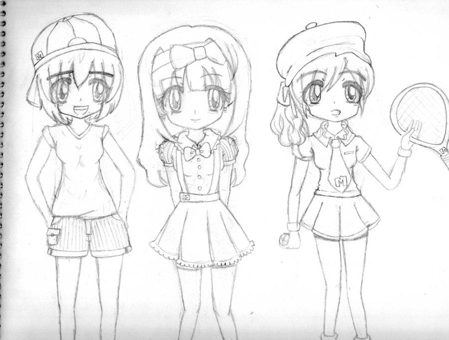 900x681 Oc Three Girls By Manta06