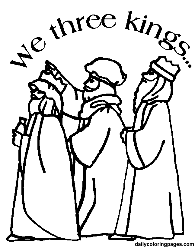 646x819 THree Kings Crafts Three Wise Men Christmas Coloring Pages 09