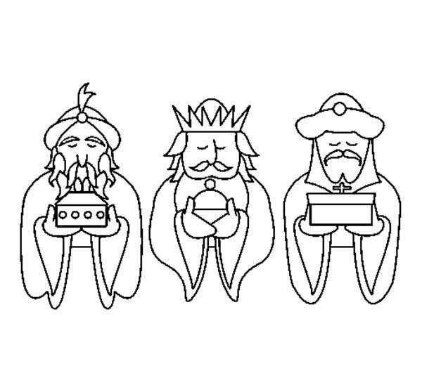 600x558 Three Kings Bring Gold Present Coloring Pages Batch
