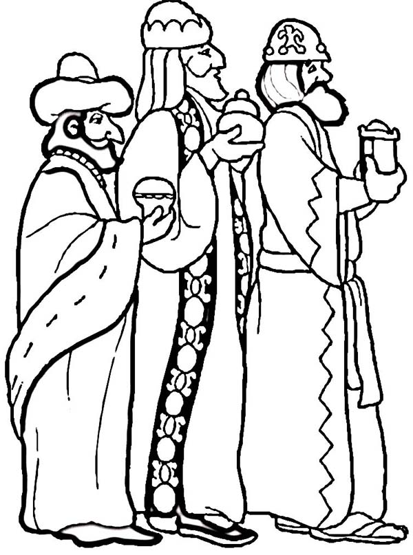 the three kings coloring pages - photo#36