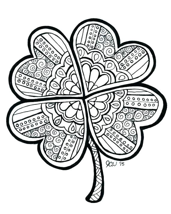 570x713 clover color best collection coloring pages - Clover Color